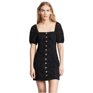 Free People Black Daniella Mini Dress